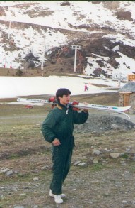 Alex Gordon con esquis 2