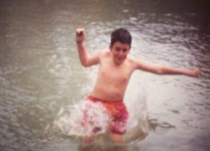 Rubén Grande en el agua