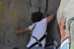 Cuarto y Quinto Escalando en el monolito de Rivas (15)