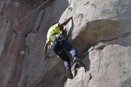 Cuarto y Quinto Escalando en el monolito de Rivas (16)