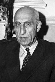 Former Iranian Prime Minister Mohammad Mossadegh steps off a plane, in August 1953. US President Barack Obama made a major gesture of conciliation to Iran on Thursday when he admitted US involvement in the 1953 coup which overthrew the government of Mossadegh.