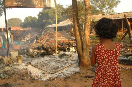 Child Watching butchered  in Sri Lanka