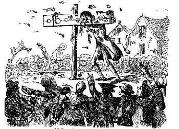 John Waller in Pillory
