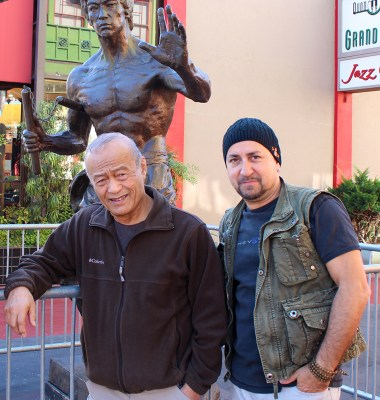 Guro Dan Inosanto and Salem Assli with Li Xiao Long