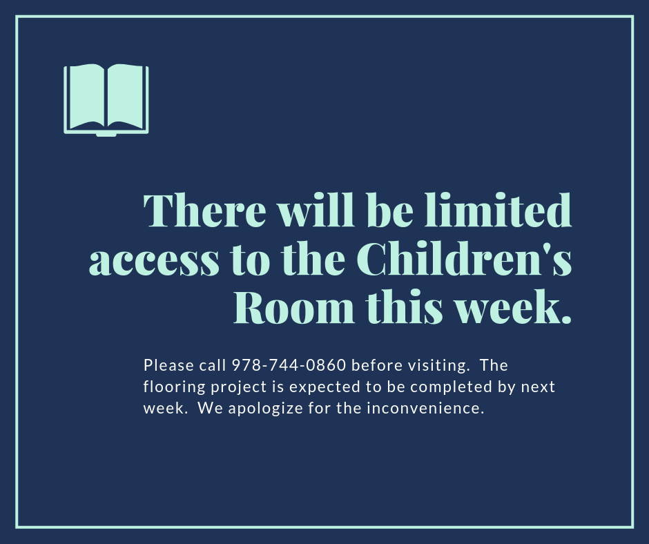 There will be limited access to the Children's Room this week.