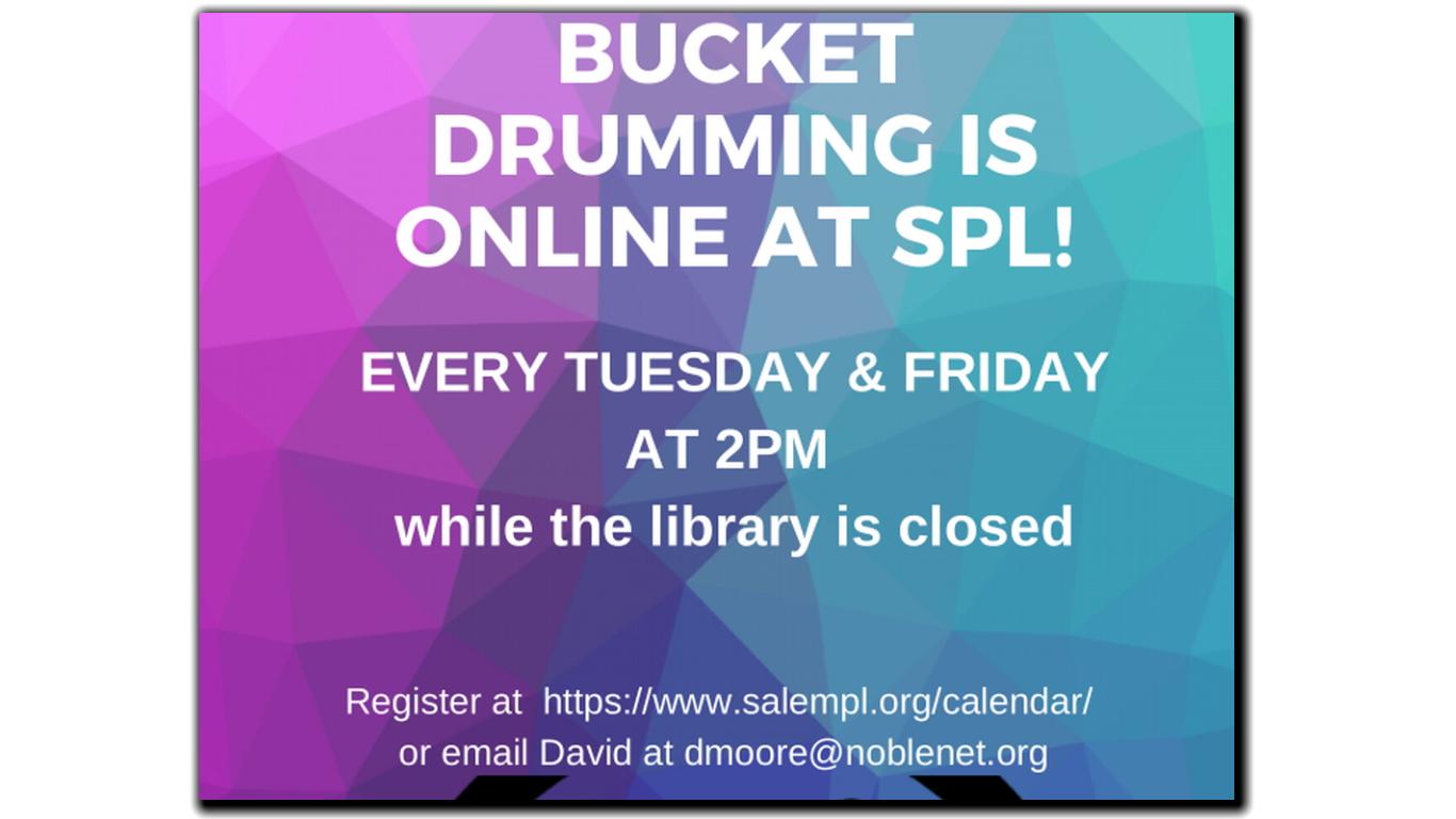 ONLINE EVENT: Bucket Drumming!