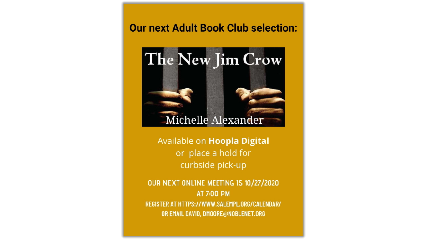 Adult Book Club for October