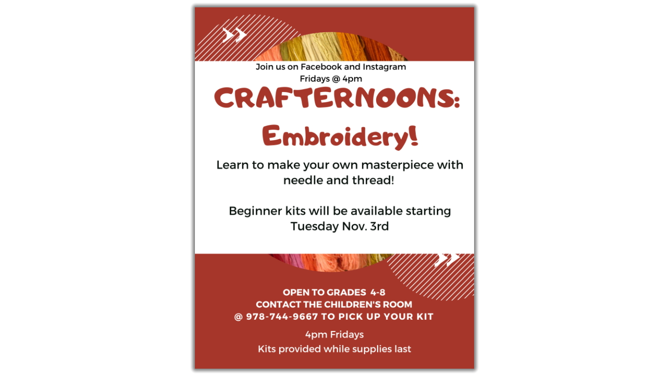 Crafternoons: Embroidery!