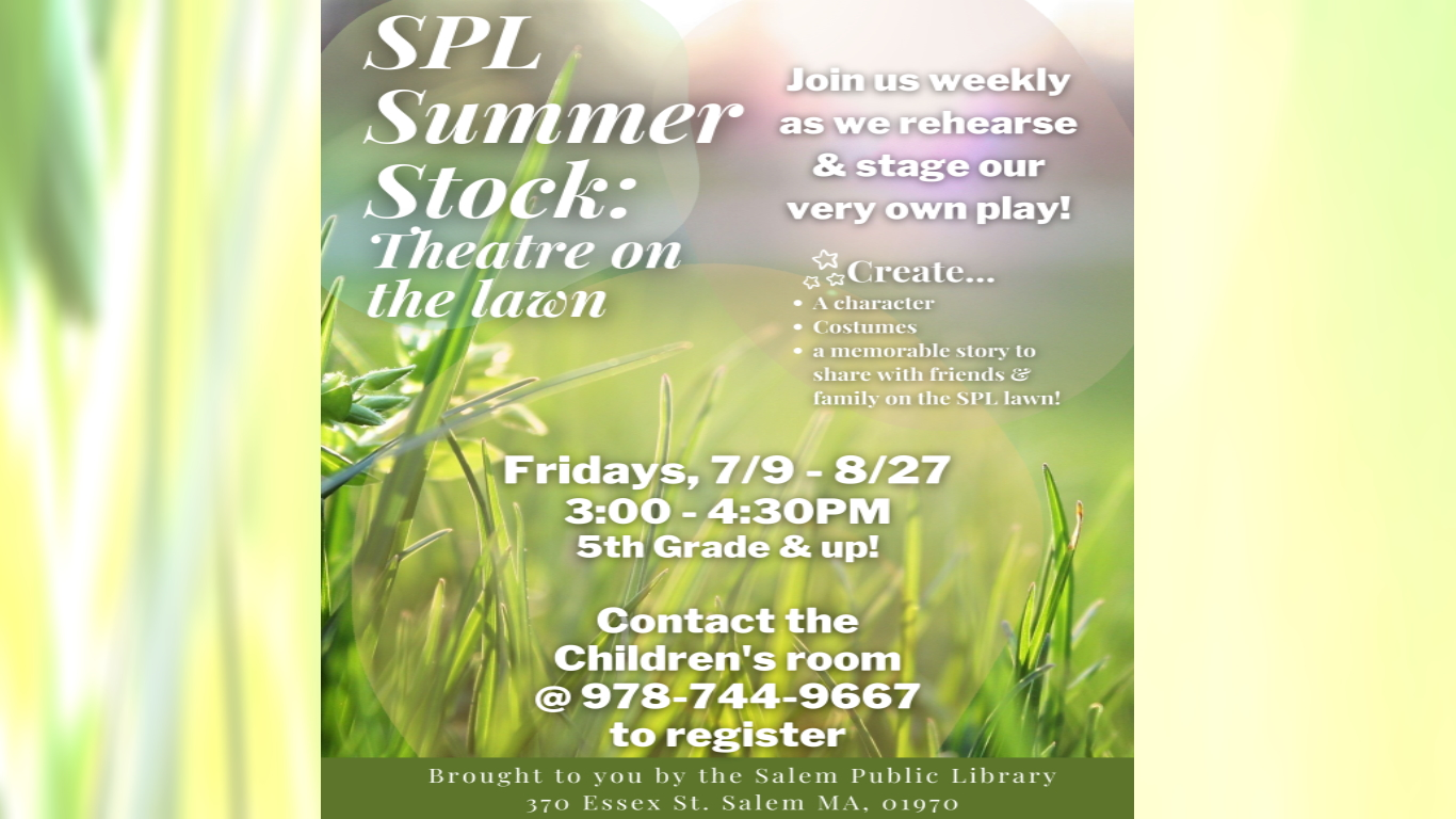 Summer Stock Theater On The Lawn