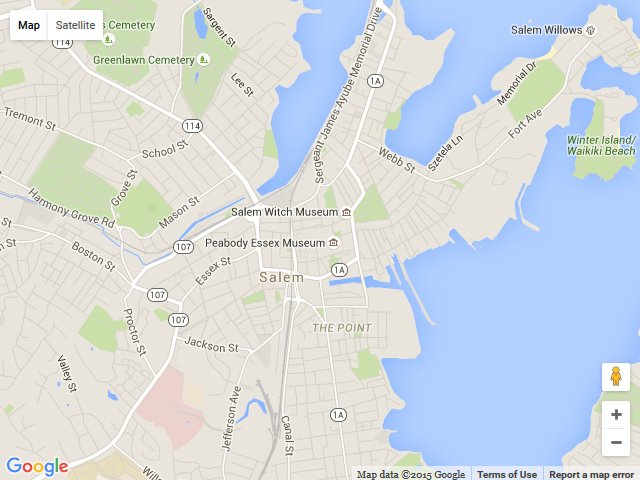 Salem Massachusetts Sites And Attractions City Map