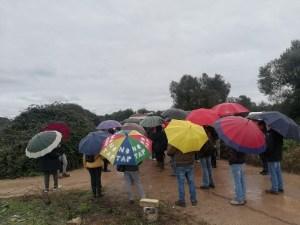 Ombrelli passeggiata No TAP - via francigena