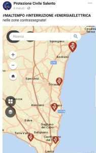 mappa tornado salento