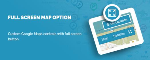Full Screen Map option
