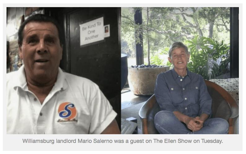 Greenpointers - Mario on Ellen