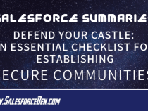 Salesforce Summary – Defend Your Castle: An Essential Checklist for Establishing Secure Communities