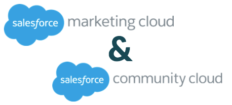 for those who are both marketing cloud and community cloud customers there are two main features to take advantage of 1 to 1 journeys customer