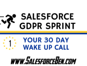 The Salesforce GDPR Sprint: your 30 day wake up call (Part 1)