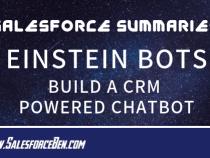 Salesforce Summary – Einstein Bots: Build a CRM Powered Chatbot