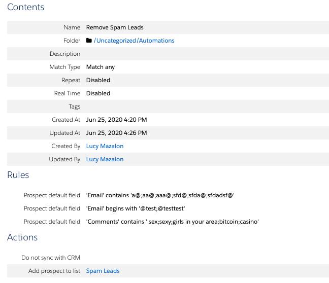 """, Supprimer automatiquement les fils de spam de Pardot<span class=""""wtr-time-wrap after-title""""><span class=""""wtr-time-number"""">6</span> minutes de lecture</span>"""