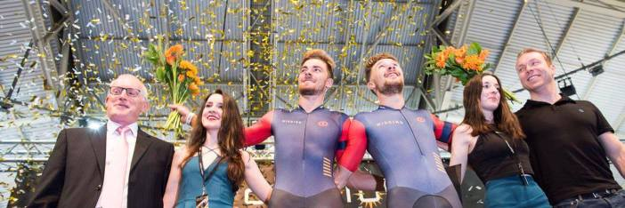 Owain Doull and Jon Dibben at Revoltion Cycling