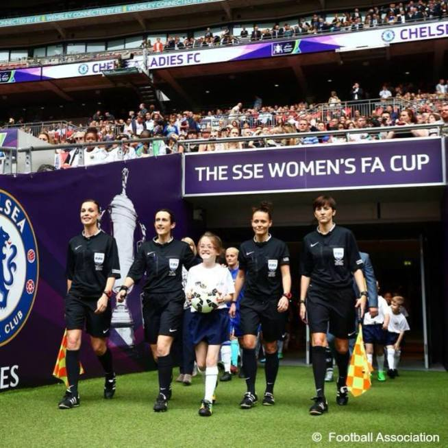 Female officials for 2015 Women's FA Cup Final