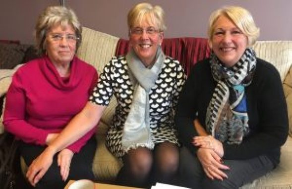 Anne Bellis, Jeanette Cutt and Lesley Fisher