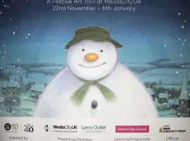 Walking with The Snowman Trail has officially landed at MediaCityUK in Salford