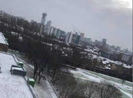 Salford in snow