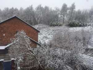 'Snow over the hills in Cadishead' Sent in by Olivia Celina Davies on Facebook