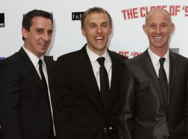 File photo dated 01/12/13 of Manchester United greats (left-right) Ryan Giggs, Gary Neville, Phil Neville, Nicky Butt, Paul Scholes.