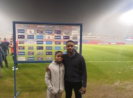 Racist graffiti victims guests of honour for Salford Red Devils