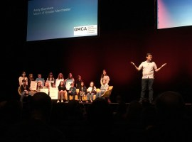 Young campaigners given prime position as Salford hosts green summit