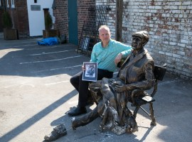 Hamilton Davies Trust crowdfunding to save Man on the Bench sculpture