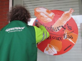 """Couldn't care less"" – Salford Sainsbury's is targeted by Greenpeace for their plastic pollution"