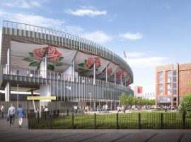 New Stand Emirates Old Trafford. Press release from Lancashire Cricket