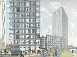 Rendering of project taken from Hawkins/Brown application to Salford City Council