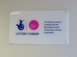 National Lottery notice in Coombes Croft Library by Alan Stanton under CC BY-SA 2.0