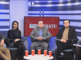 Candidates for the general election in Salford and Eccles South taking part in  a debate