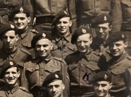 George Simms, (second row from top in centre) Royal Marines Commando 41. Image courtesy of Broughton House