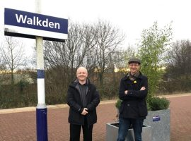Neil Stapleton and Andy Barlow from the Friends of Walkden Station. Photo Laura Joffre