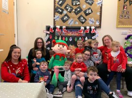 Kidzrus nurseries on Christmas Jumper Day. Credit: Nicola Fleury.
