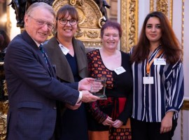 Official photo from the Lord Ferrers ceremony.   Image courtesy of: Talk Listen Change charity.