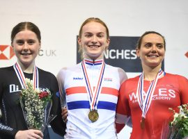 Picture by Simon Wilkinson/SWpix.com 25/01/2020 - Cycling - HSBC UK British Cycling National Track Championships 2020. HSBC UK National Cycling Centre, Manchester England - Lauren Bell Keirin Winner