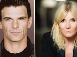 Tristan Gemmill and Michelle Collins. Image credits: The Lowry