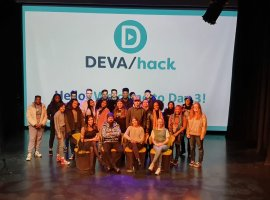 Students and mentors at the DEVAhack workshop