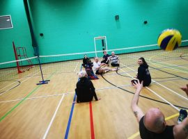 Photo of City of Salford Sitting Volleyball club,  taken by Fraser Shankly