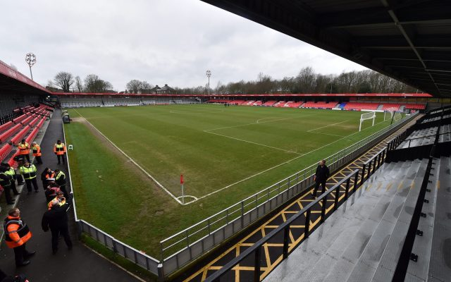 GV of the Peninsula Stadium before the Sky Bet League 2 match between Salford City and Oldham Athletic at Moor Lane, Salford on Saturday 25th January 2020. (Photo by Eddie Garvey/MI News/NurPhoto)