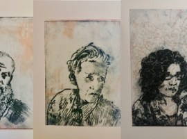 """I felt absolutely impelled to respond to that in some way"" Printmaker creates viral portraits from lockdown"