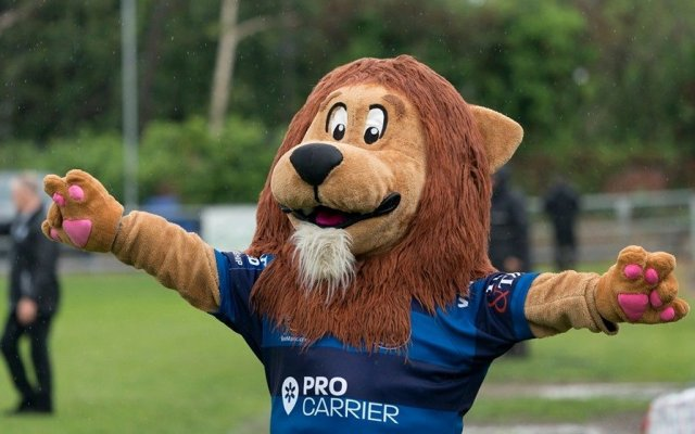Swinton Lions mascot Dana the Lion is taking on Movement's 60k Movember challenge to help raise awareness for male suicide prevention. (Image credit: Pete Green).