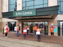 Volunteers outside of John Lewis. Image courtesy of Home-Start.